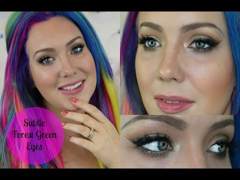 Wearable Colour! Sublte Forest Green Eyes | Jade Madden
