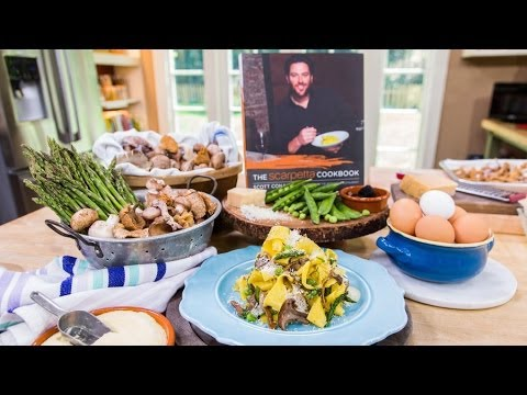 Home & Family - Tagliatelle with Spring Vegetables & Truffle Zabaglione