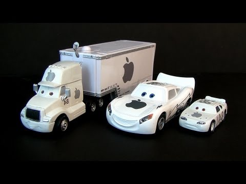 Custom iCar Apple Mac Cars Lightning McQueen Disney Pixar Talking Fail Fake Truck Hauler Knock-Off