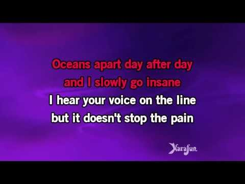 Karaoke Right Here Waiting - Richard Marx *